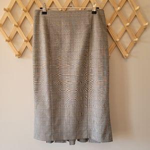 CUE Vintage Pencil Work Skirt (s6) Plaid Tartan